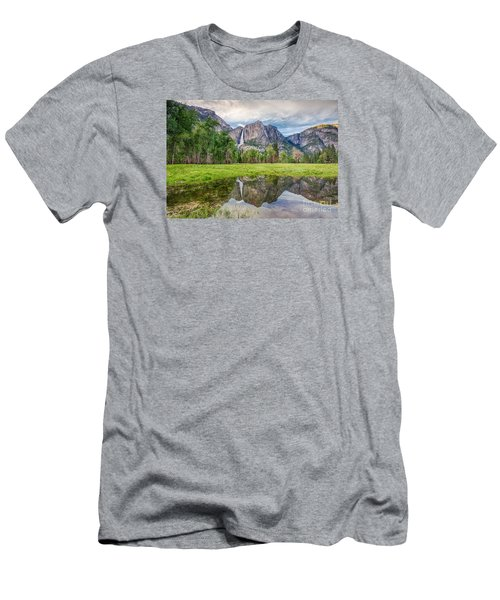 Yosemite Falls And Reflections 2 Men's T-Shirt (Athletic Fit)