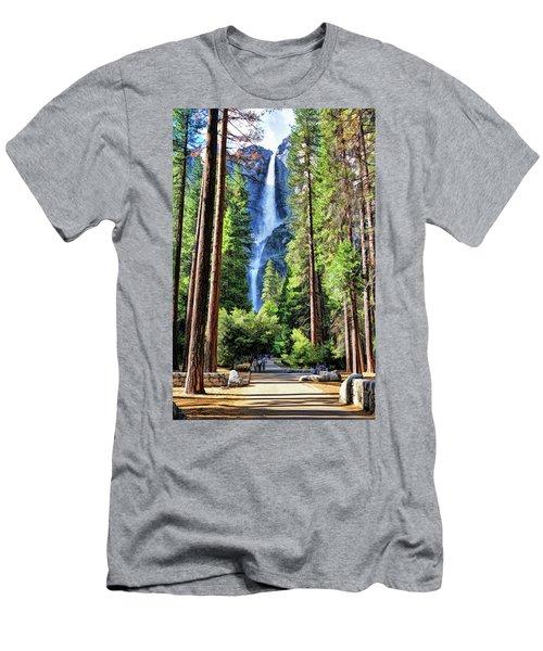 Yosemite National Park Bridalveil Fall Trees Men's T-Shirt (Athletic Fit)