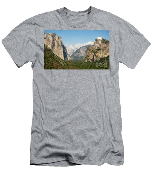 Yosemite Tunnel View With Bridalveil Rainbow By Michael Tidwell Men's T-Shirt (Athletic Fit)
