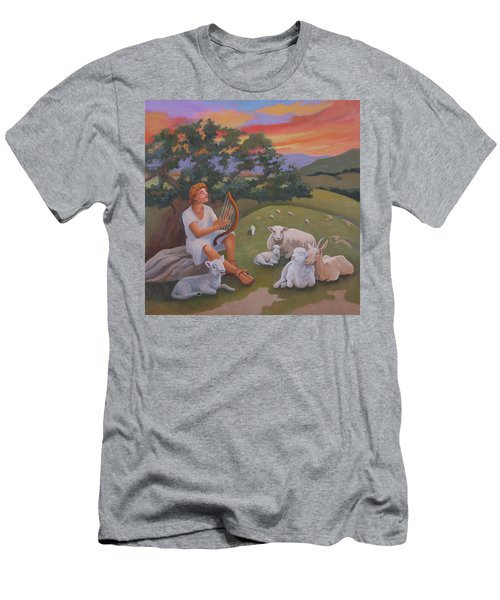 Young David As A Shepherd Men's T-Shirt (Athletic Fit)
