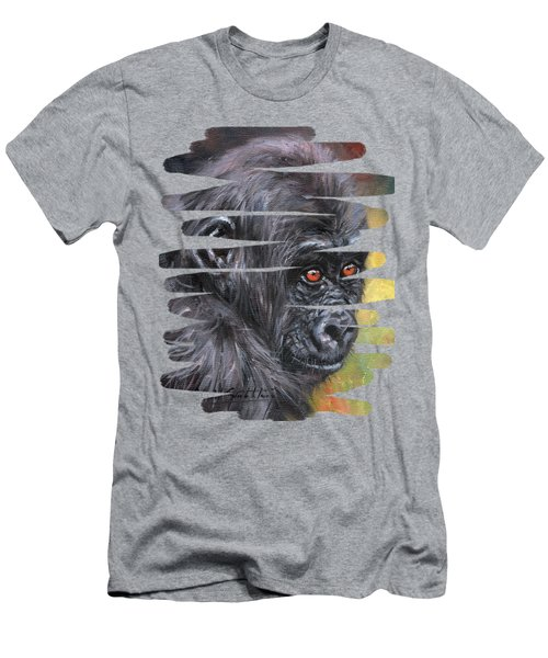 Young Gorilla Portrait Men's T-Shirt (Athletic Fit)