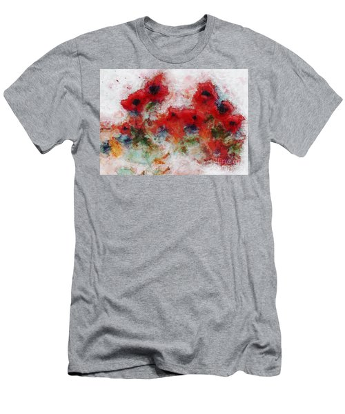 Men's T-Shirt (Athletic Fit) featuring the painting Young Ones by Claire Bull