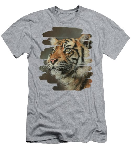 Young Sumatran Tiger Portrait Men's T-Shirt (Athletic Fit)