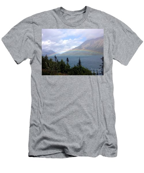 Men's T-Shirt (Athletic Fit) featuring the photograph Yukon Rainbow by Barbara Von Pagel