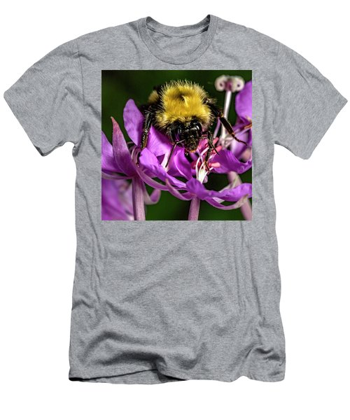 Men's T-Shirt (Slim Fit) featuring the photograph Yummy Pollen by Darcy Michaelchuk