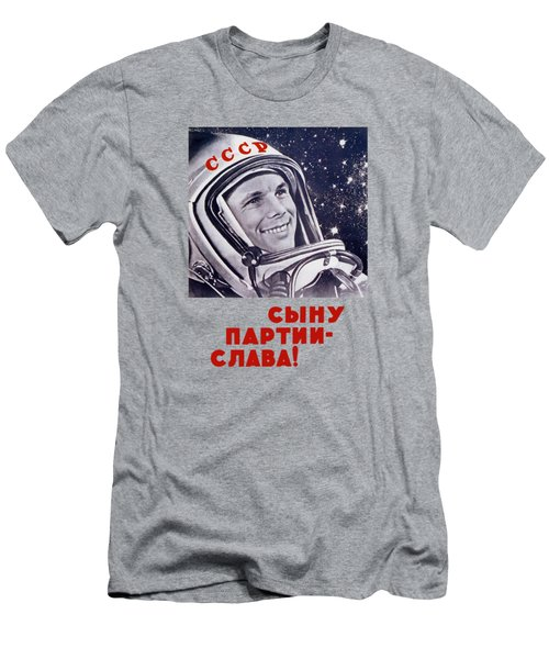 Yuri Gagarin - Soviet Space Propaganda Men's T-Shirt (Athletic Fit)