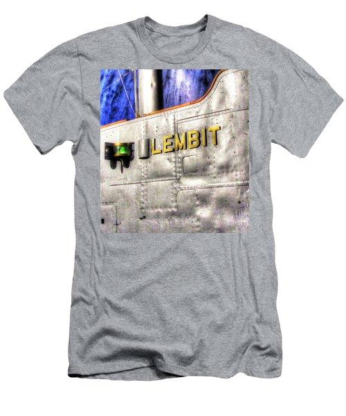 Men's T-Shirt (Slim Fit) featuring the pyrography Yury Bashkin Element  Tallin Museum by Yury Bashkin
