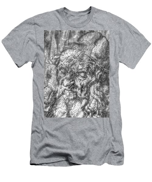 Men's T-Shirt (Slim Fit) featuring the mixed media Yury Bashkin   Known Head by Yury Bashkin