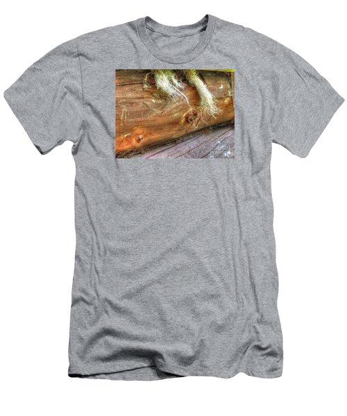 Men's T-Shirt (Slim Fit) featuring the pyrography Yury Bashkin Rustic Wall by Yury Bashkin