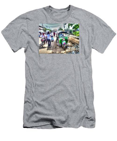 Men's T-Shirt (Slim Fit) featuring the pyrography Yury Bashkin Street Ost by Yury Bashkin
