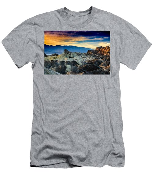 Men's T-Shirt (Slim Fit) featuring the photograph Zabriskie Point At Sundown by Janis Knight