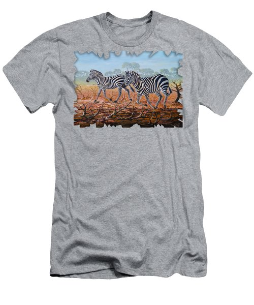 Zebra Crossing Men's T-Shirt (Athletic Fit)