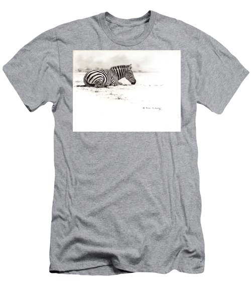 Zebra Sketch Men's T-Shirt (Athletic Fit)