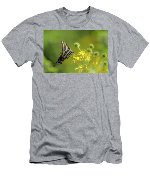 Men's T-Shirt (Athletic Fit) featuring the photograph Zebra Swallowtail Butterfly by Lori Coleman
