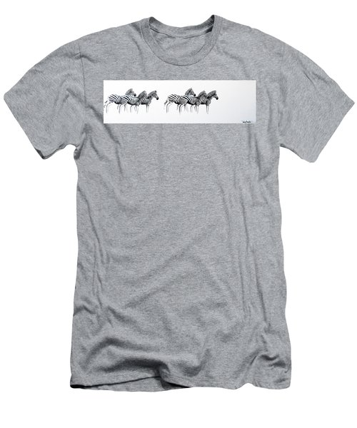 Zebrascape - Original Artwork Men's T-Shirt (Athletic Fit)