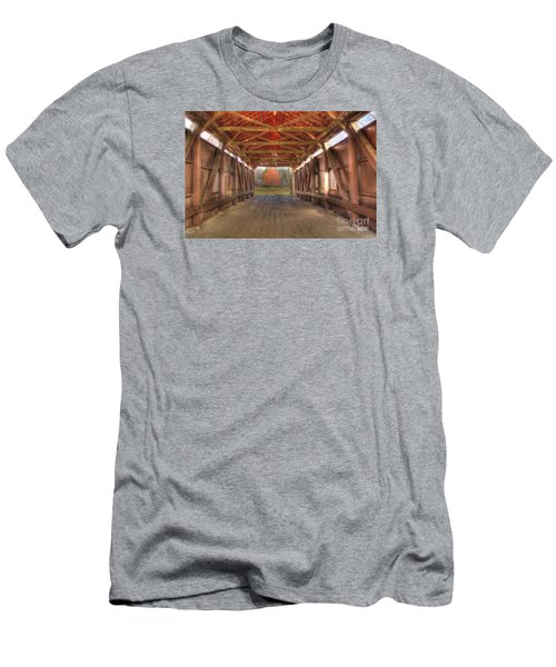 Sycamore Park Covered Bridge Men's T-Shirt (Athletic Fit)