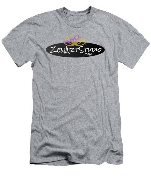 Zen Art Studio Logo Men's T-Shirt (Slim Fit) by Julie Niemela