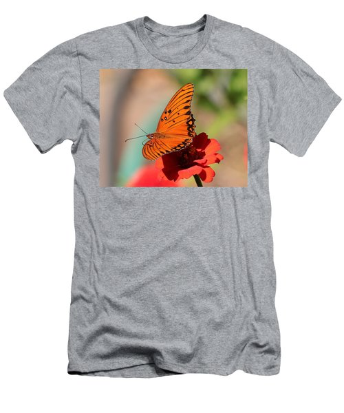 Zinnia With Butterfly 2669 Men's T-Shirt (Athletic Fit)