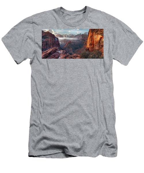 Zion Canyon Grandeur Men's T-Shirt (Athletic Fit)
