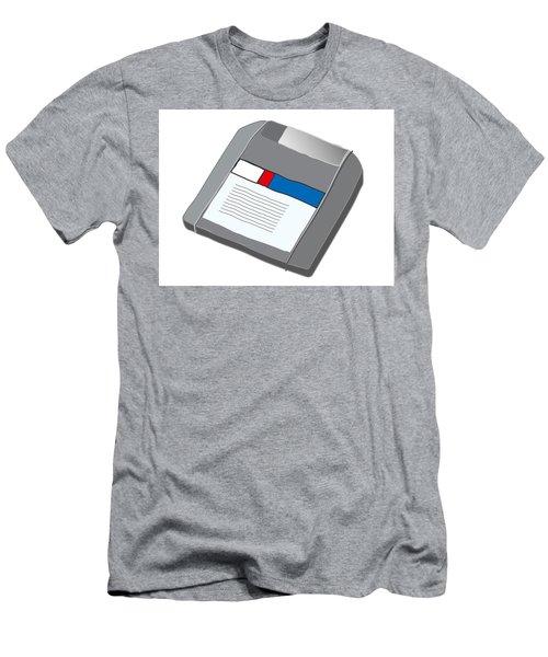 Zip Disk Men's T-Shirt (Athletic Fit)