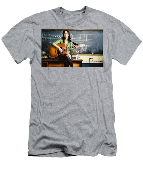 Zooey Deschanel Men's T-Shirt (Athletic Fit)