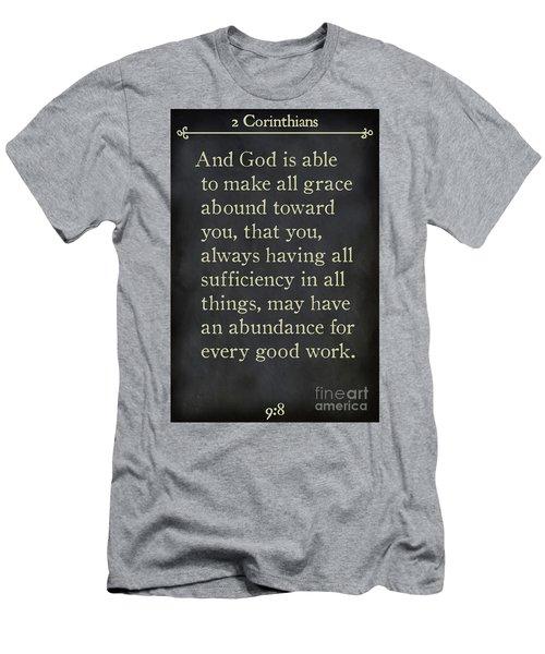 2 Corinthians 9 8-bible Verse Wall Art Collection Men's T-Shirt (Athletic Fit)