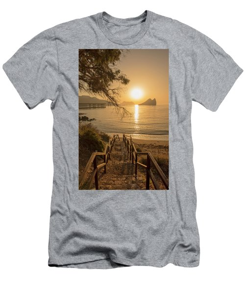Access To The Beach At Dawn Men's T-Shirt (Athletic Fit)