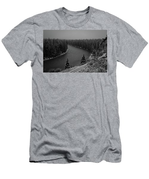 A View From The Side Of The Bow Valley Parkway, Banff National P Men's T-Shirt (Athletic Fit)
