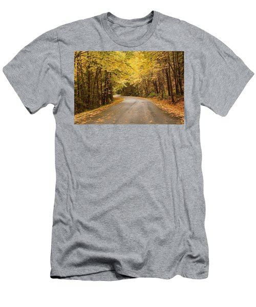 Men's T-Shirt (Athletic Fit) featuring the photograph Autumn Drive by Brian Eberly