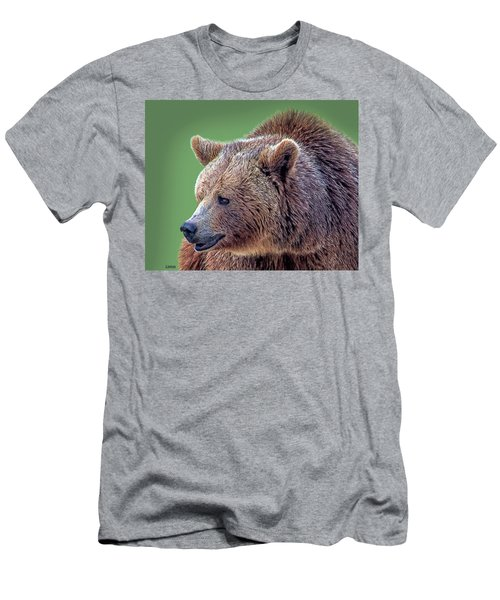 Men's T-Shirt (Athletic Fit) featuring the digital art Brown Bear 5 by Larry Linton