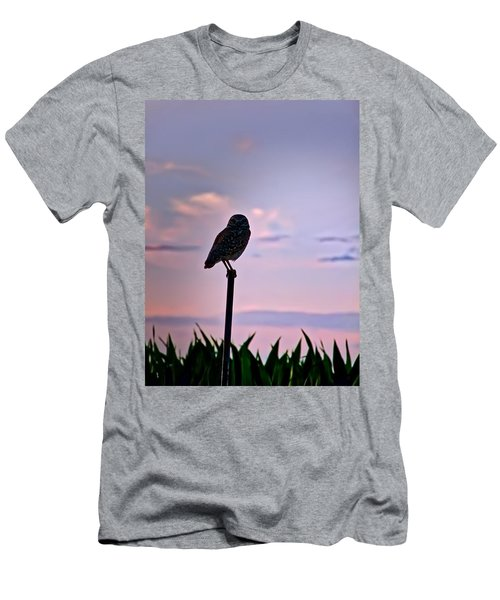 Burrowing Owl On A Stick Men's T-Shirt (Athletic Fit)