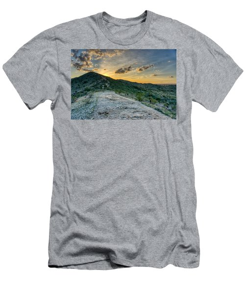 Dramatic Mountain Sunset  Men's T-Shirt (Athletic Fit)