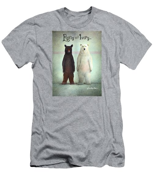 Ebony And Ivory... Men's T-Shirt (Athletic Fit)