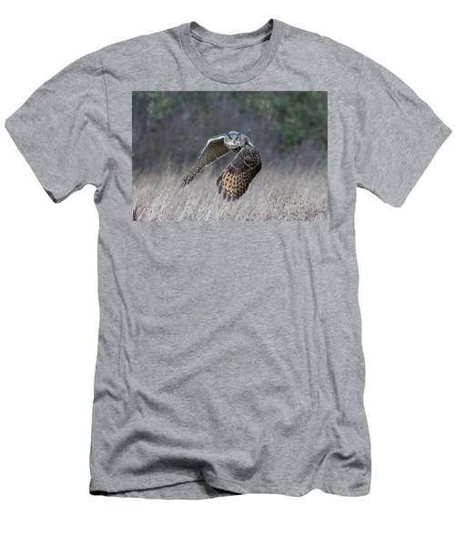 Eurasian Eagle Owl Flying Men's T-Shirt (Athletic Fit)