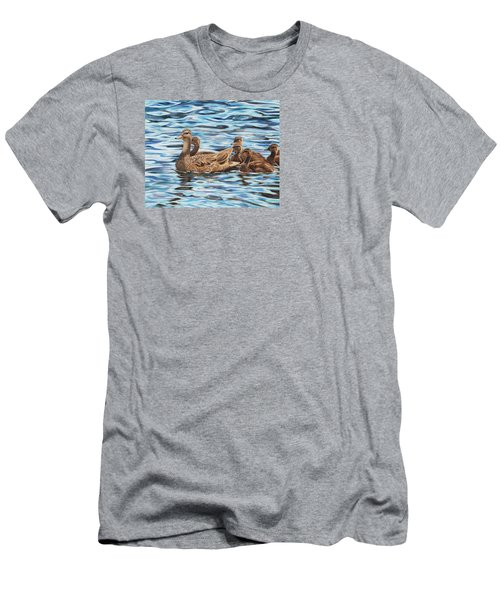 Men's T-Shirt (Athletic Fit) featuring the painting Mallards by Tammy Taylor