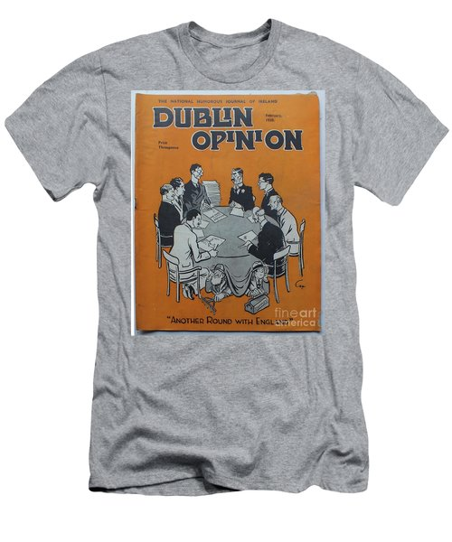 Men's T-Shirt (Athletic Fit) featuring the painting Feb 1938 Dublin Opinion by Val Byrne