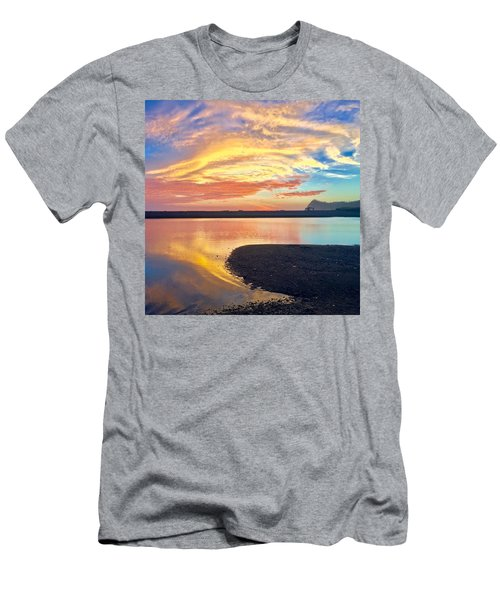 Men's T-Shirt (Athletic Fit) featuring the mixed media Infinite Possibility by Passion Give