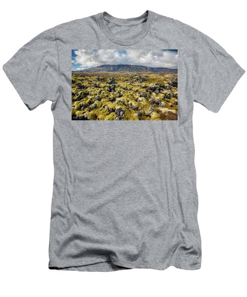Lava Field Of Iceland Men's T-Shirt (Athletic Fit)
