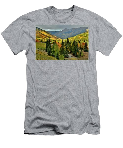 Looking North From Red Mountain Pass Men's T-Shirt (Athletic Fit)