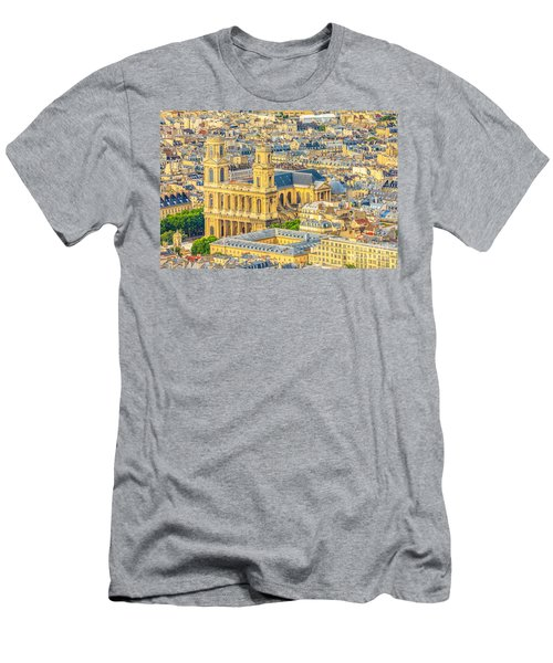 Saint Sulpice Church Paris Men's T-Shirt (Athletic Fit)