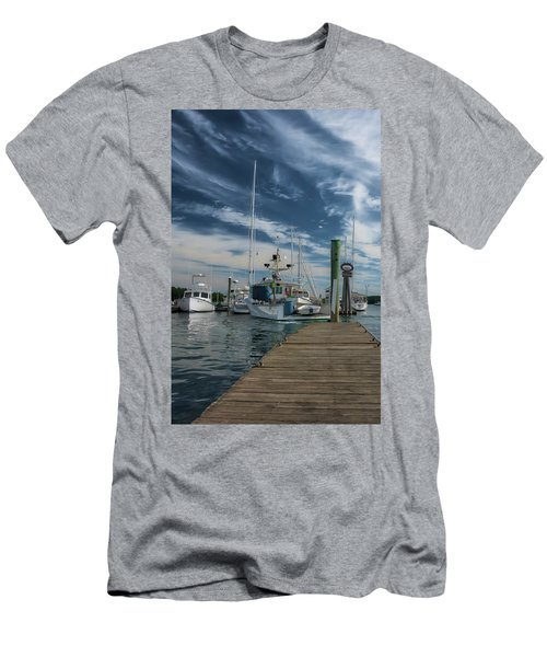 Men's T-Shirt (Athletic Fit) featuring the photograph South Freeport Pier  by Guy Whiteley