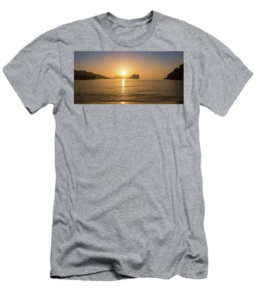 Sunrise On A Beach In Aguilas, Murcia Men's T-Shirt (Athletic Fit)