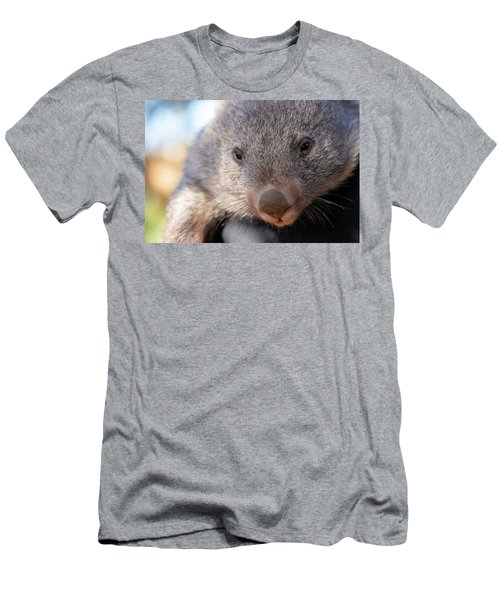 Men's T-Shirt (Athletic Fit) featuring the photograph Wombat Outside During The Day. by Rob D Imagery