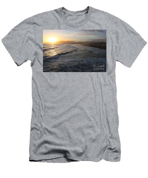 Pacific Sunset , Santa Monica, California Men's T-Shirt (Athletic Fit)
