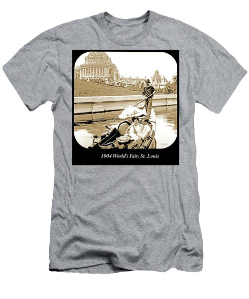 1904 Worlds Fair, Sighteeing Boat, Oarsman And Couple Men's T-Shirt (Athletic Fit)