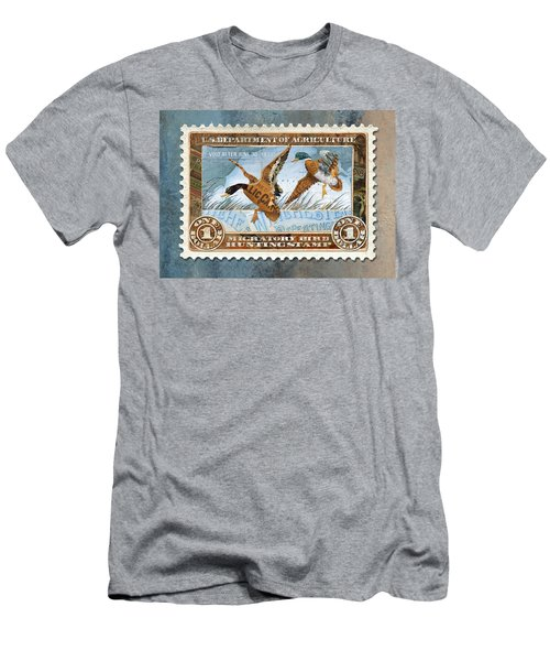 1934 Hunting Stamp Collage Men's T-Shirt (Athletic Fit)