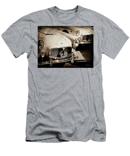 Men's T-Shirt (Athletic Fit) featuring the photograph 1960 Maserati Grille Emblem-1098scl3 by Jill Reger