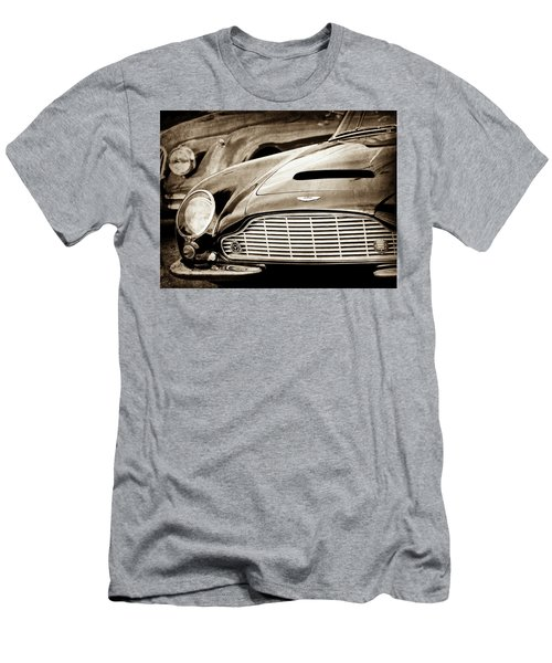 Men's T-Shirt (Athletic Fit) featuring the photograph 1965 Aston Martin Db6 Short Chassis Volante Grille-0970scl by Jill Reger