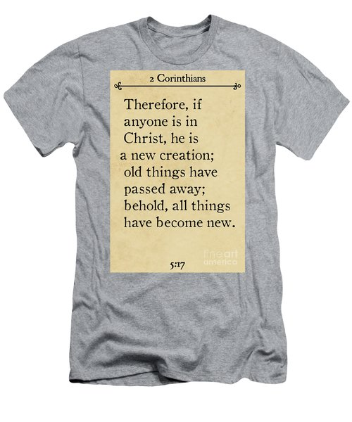 2 Corinthians 5 17 - Inspirational Quotes Wall Art Collection Men's T-Shirt (Athletic Fit)