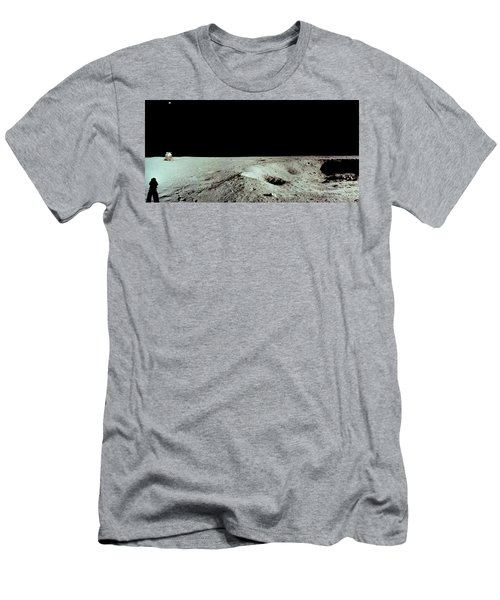 Apollo 11 Panorama Of The First Men Men's T-Shirt (Athletic Fit)